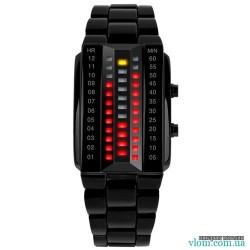 Чоловічий бінарний LED годинник  Skmei 1013