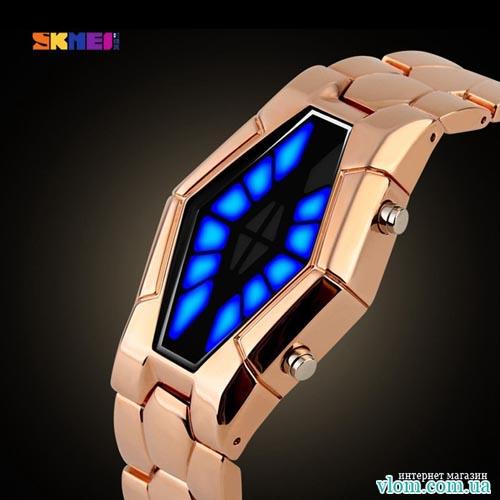 Чоловічий бінарні LED годинник  Skmei 1082