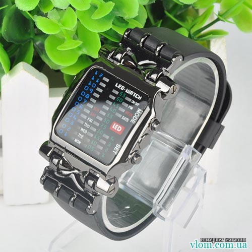 Чоловічий LED годинник Super Binary