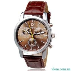 Чоловічий годинник коричневий WYD