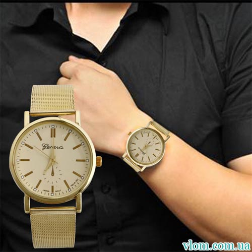 Чоловічий годинник Geneva золотий