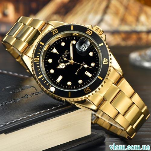 Чоловічий годинник механіка MCE gold
