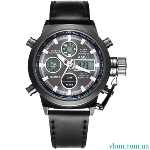 Чоловічий годинник AMST am 3003 black
