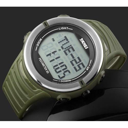 Чоловічий годинник Skmei 1111 з крокоміром і пульсомірів