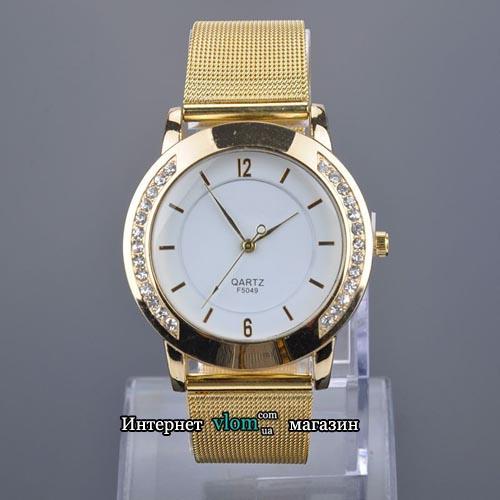 Купити в інтернет магазині недорого жіночий золотий годинник зі стразами 3b65625b05271