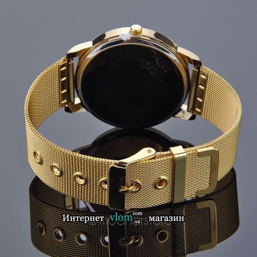 Жіночий золотий годинник зі стразами