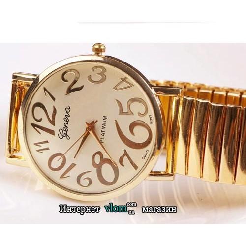 Жіночий золотий годинник Geneva Platinum