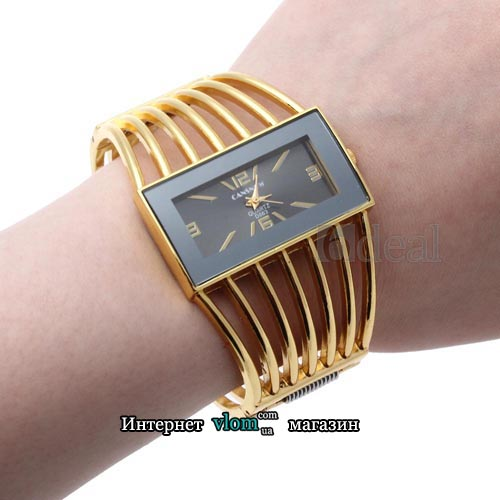 Жіночий золотий годинник браслет Cansnow