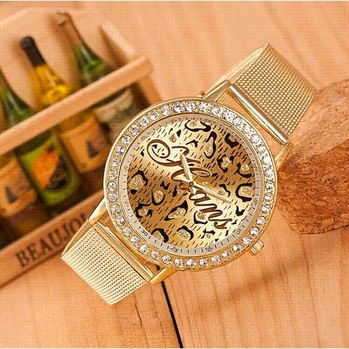 Жіночий золотий годинник Hoans стрази