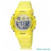 Жіночий спортивний годинник OHSEN yellow