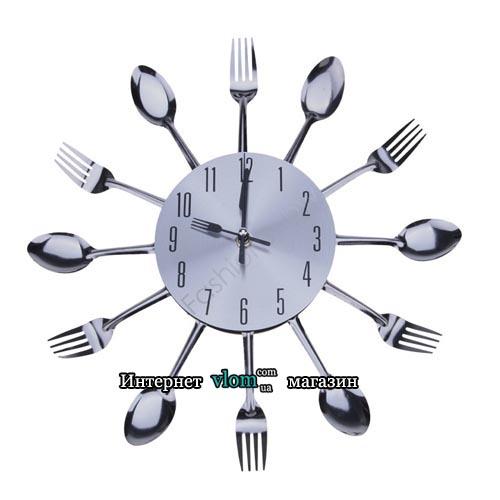 Настінний годинник Кухня вилки ложки