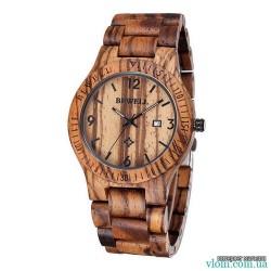 Дерев'яний годинник BEWELL 2538