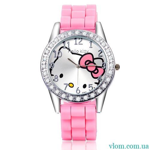 Для дитини кварцові годинники Hello Kitty з бантиком для дівчинки 221d5c7b9deaa
