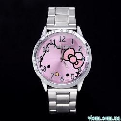 Для дитини кварцові годинники Hello Kitty сталь для дівчинки