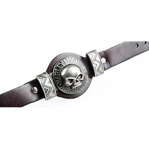 Чоловічий браслет череп Harley Davidson