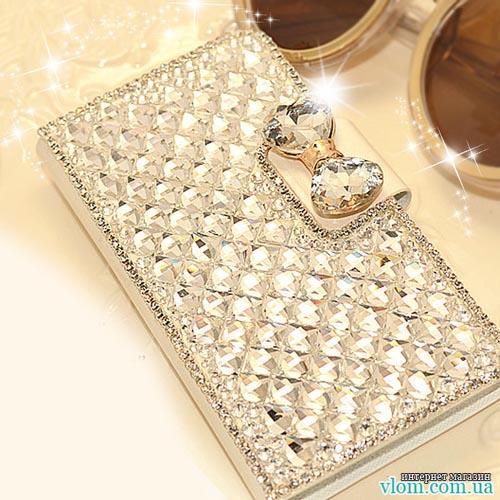Чохол книжка діаманти стрази на Iphone 6 plus
