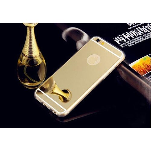 Чохол золотий дзеркальний на Iphone 6 plus