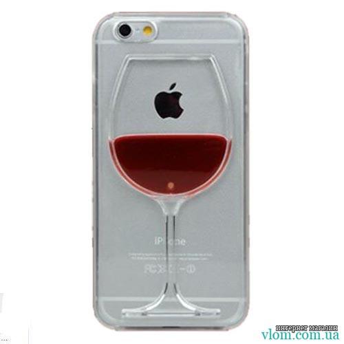 Чохол з рідиною вино на Iphone 6 plus