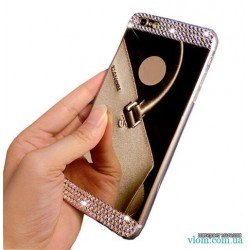 Чохол дзеркальний стрази на Iphone 6 plus