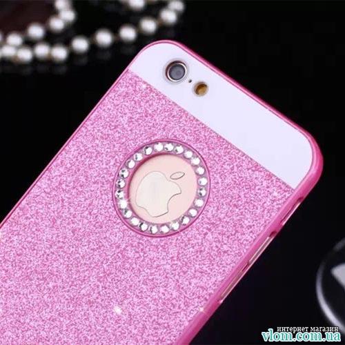 Чохол модний рожевий на Iphone 6 plus