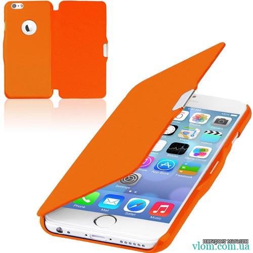 Чохол помаранчевий flip на Iphone 6 plus