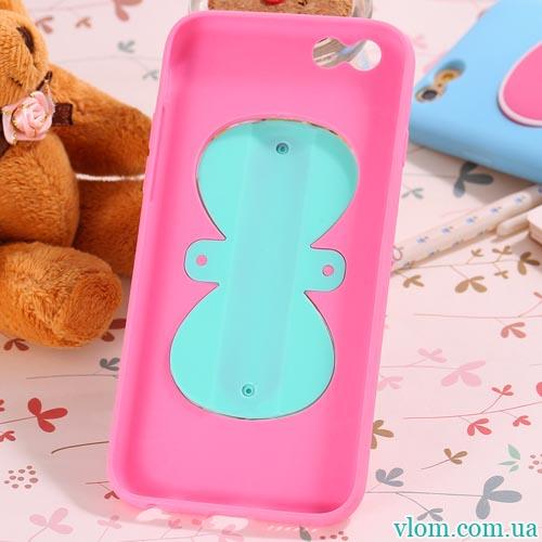 Чохол рожева метелик з підставкою на Iphone 6/6s