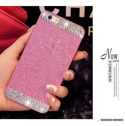 Чохол рожевий стрази Iphone 5 / 5s