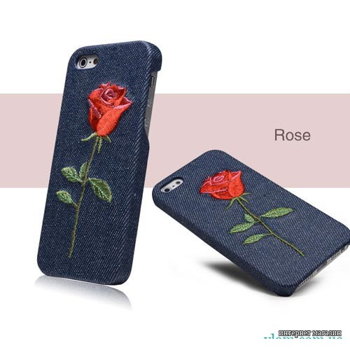 Чохол троянда Denim Iphone 5 / 5s