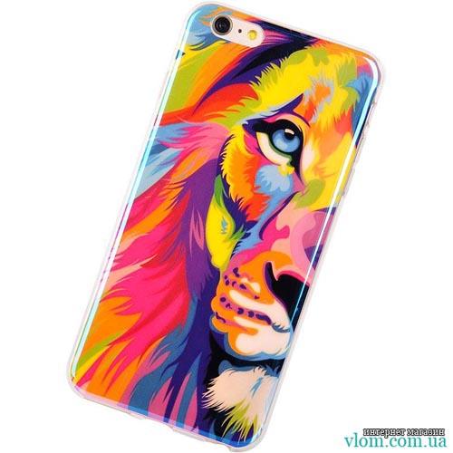 Чохол барвистий лев на Iphone 6/6s