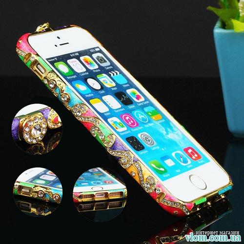 Чохол Czekh бампер кристали на Iphone 5/5s