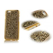 Чохол золоті стрази камені на Iphone 5/5s