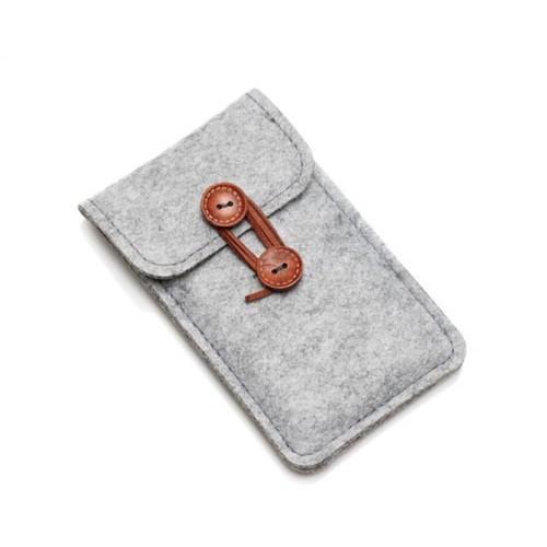 Чохол сірий фетр на Iphone 6 plus