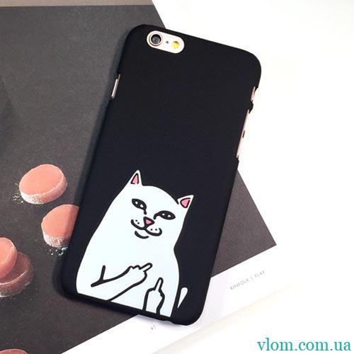 Чохол злий котик на Iphone 6 plus