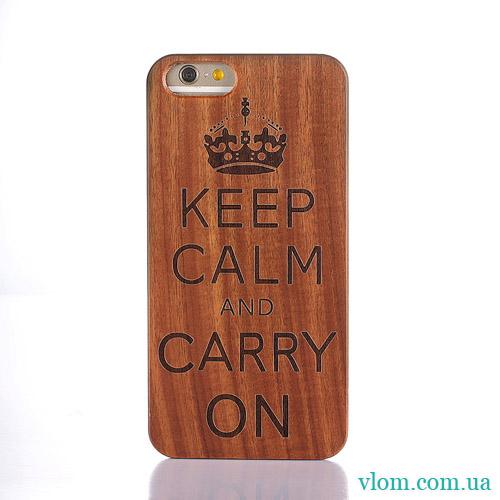 Чохол Дерев'яний Keep Calm на Iphone 6/6s;