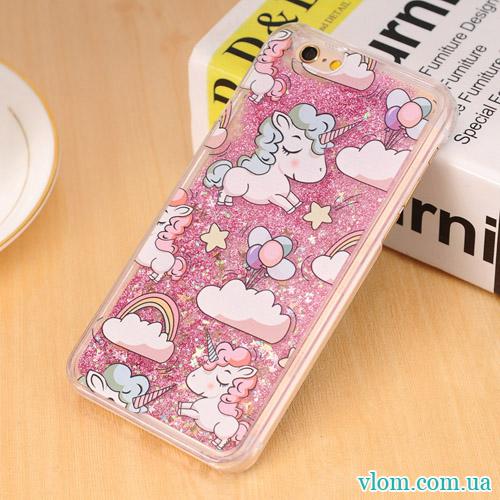 Чохол рожевий одноріг на Iphone 7/8 PLUS