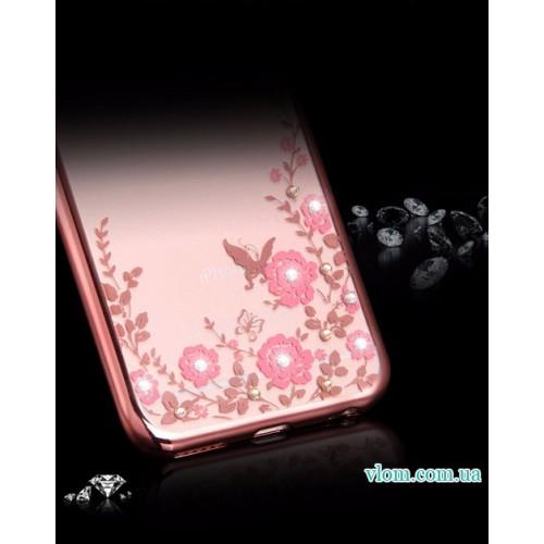 Чохол з рожевими стразами на Iphone 7/8 PLUS
