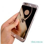 Чохол дзеркальний зі стразами на Iphone 7/8 PLUS