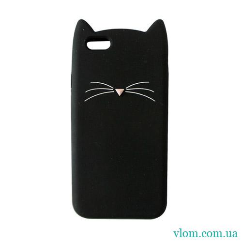 Чохол чорний котик на Iphone 7/8 PLUS