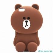 Чохол коричневий ведмедик у Iphone 7/8 PLUS