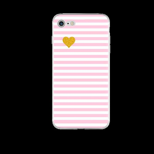 Чохол рожеві смужки на Iphone 7/8 plus