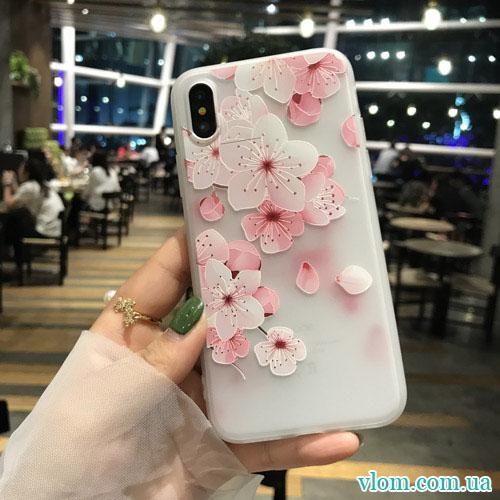 Чохол Квіти на Iphone X 10