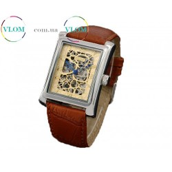 Чоловічий годинник скелетон Goer