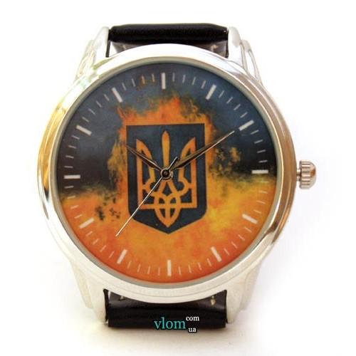 Патріотичний годинник Україна з тризубом і прапором