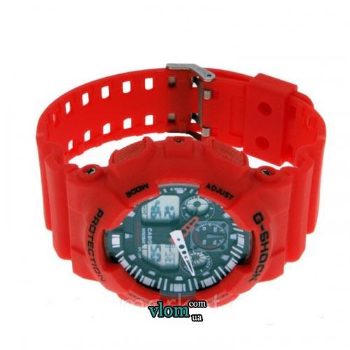 Чоловічий годинник Casio G-Shock Ga 100 Червоний