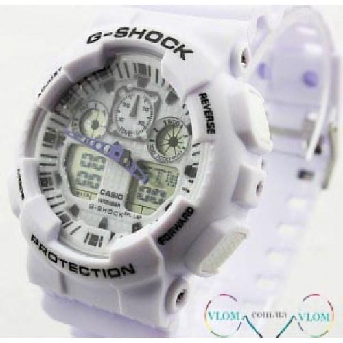 Чоловічий годинник Casio G-Shock Ga 100 white edition