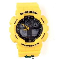 Чоловічий годинник Casio G-Shock Ga 100 Жовтий