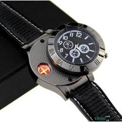Чоловічий годинники запальничка з прикурювачем від USB