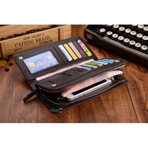 Чоловічий шкіряний гаманець портмоне Baellerry Italia