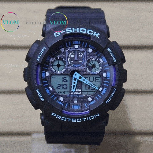 ... Чоловічий годинник Casio G-Shock Ga 100 dark blue edition f628b85cf1645