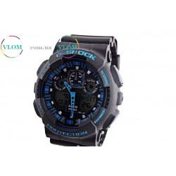 Чоловічий годинник Casio G-Shock Ga 100 dark blue edition